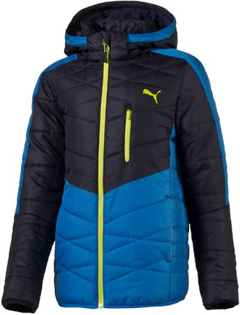 Puma otroška jakna Active Norway B Peacoat Electric, modra/črna, 128