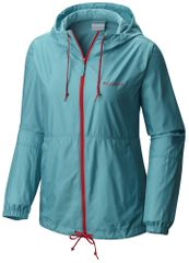 Columbia ženska jakna Flash Forward Windbreaker, modra/rdeča