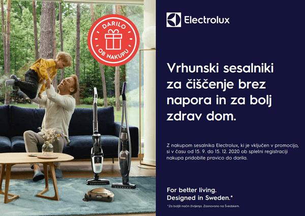 Electrolux podarja darilo ob nakupu izbranih sesalnikov